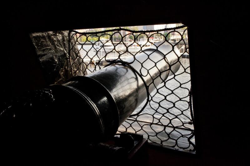 A View of the Long Guns on the Gun Deck