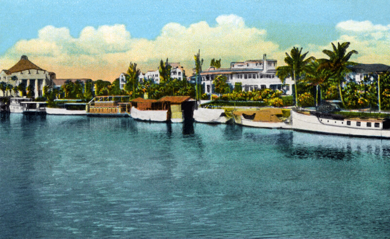 A View of the Miami River and the Scottish Rite Temple