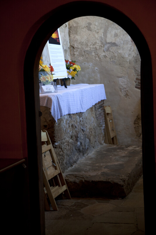 A View of the Mission Concepción Chapel