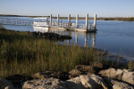 A View of the Passenger Ferry and Boat Dock as seen from the Shoreline at Fort Matanzas