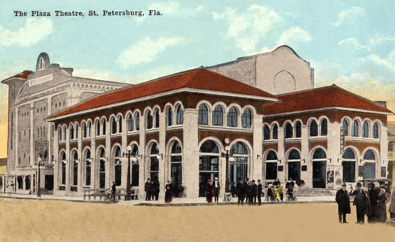 A View of the Plaza Theatre in St. Petersburg, Florida