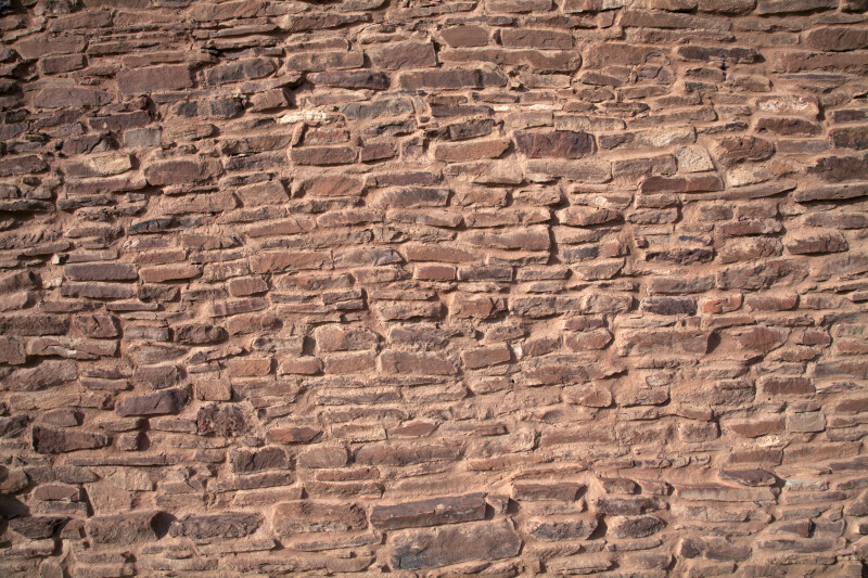A View of the Sandstone Wall at the Quarai Ruins
