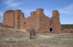A View of The Spanish Church at the Quarai Ruins