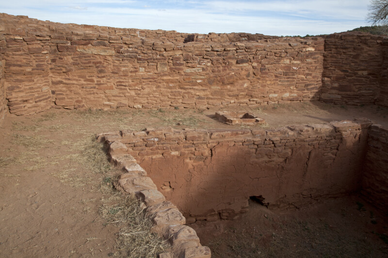 A View of the Square Kiva Located in the Friary of the Spanish Church