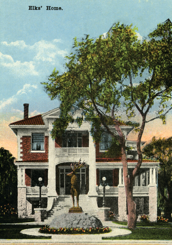 A View of the Stately Elks' Home