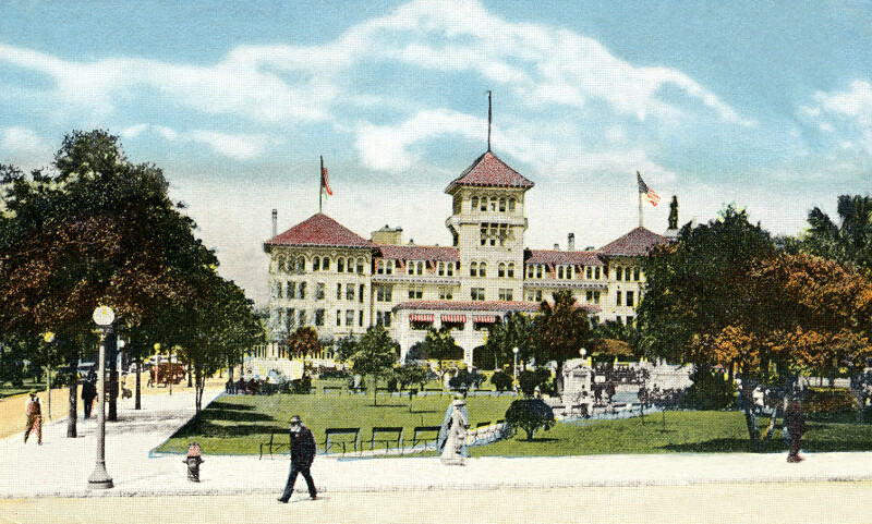 A View of the Windsor Hotel, from Laura Street, Jacksonville, Florida