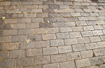 A Walkway with Decoratively Embossed Bricks
