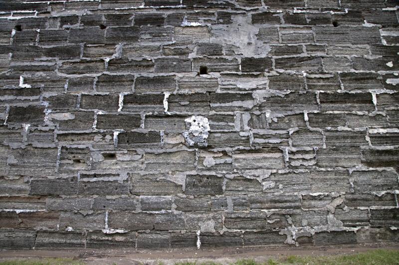 A Wall Constructed of Coquina Ashlars with Tabby Mortar