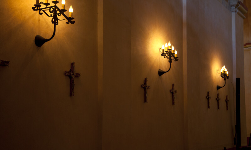 A Wall of the Sanctuary at Mission Concepción