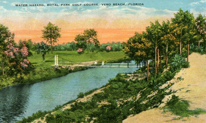 A Water Hazard on the Royal Park Golf Course in Vero Beach, Florida