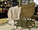 A Wicker Baby Buggy