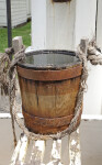A Wooden Bucket Filled with Water