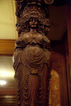 A Wooden Caryatid Column