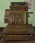 A Wooden National Cash Register