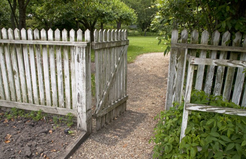 wood picket fence gate. A Wooden Picket Fence Wood Gate