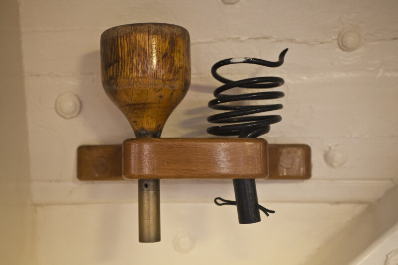 A Wooden Rack on the Wall