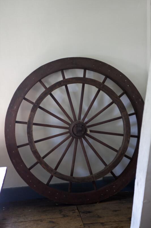 A Wooden Spoked Wheel