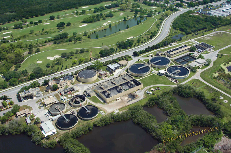 Aerial View of Northeast Water Reclamation Plant