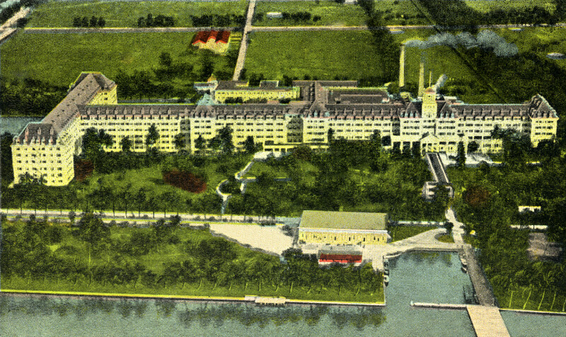 Aeroplane View of Royal Poinciana Hotel in Palm Beach, Florida