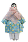 Afghanistan Handcrafted Stuffed Fabric Doll in Cotton Pajami  (Full View)