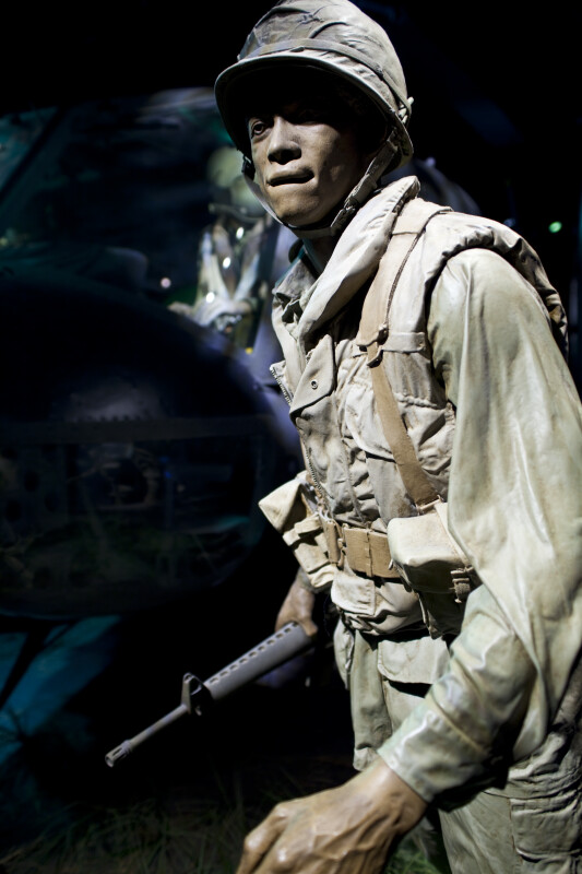 African-American Soldier with Rifle