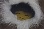 Alaskan Eskimo with Leather Face (Close Up)