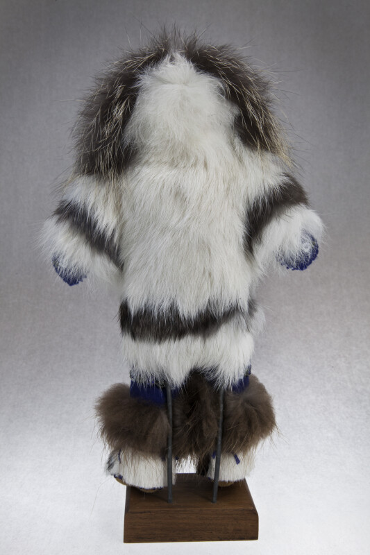 Alaskan Man Made of Fur and Beads (Back View)