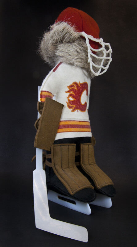 Alberta Canada Handmade Hockey Player (Three Quarter View)