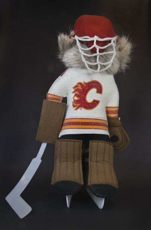 Alberta Canada Handcrafted Ice Hockey Player (Full View)