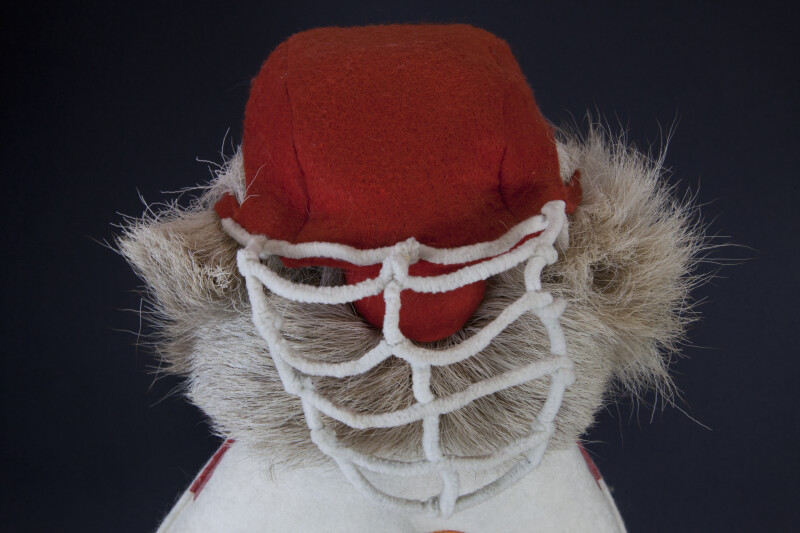 Alberta, Canada - Hockey Goalie Made from Fur and Felt (Close Up)