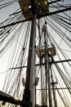 All Three Masts and Fighting Tops on the USS Constitution