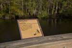 Alligator Safety Sign at Big Cypress National Preserve