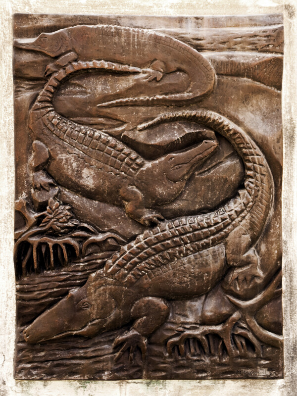 Alligators or Crocodiles in Bronze