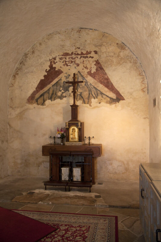 Altar and Fresco in the Sacristy