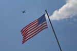 American Flag and Airplane