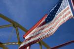 American Flag on Fort Duquesne Bridge