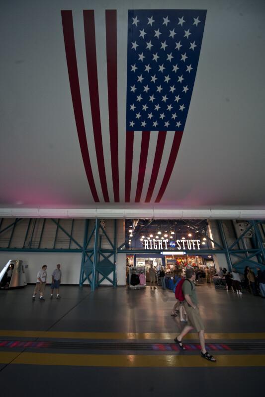 American Flag on Saturn V