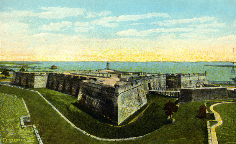 An Aerial View of Fort Marion
