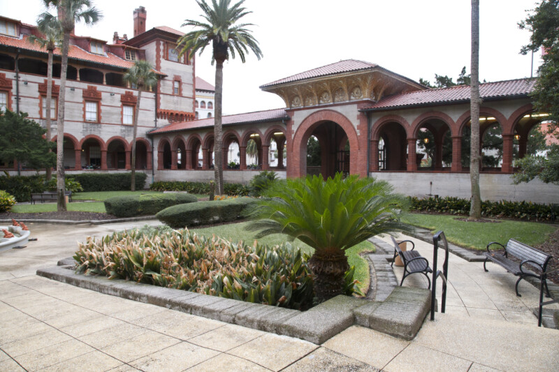 An Arcaded Loggia from the Courtyard of the Hotel Ponce de Leon