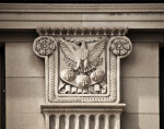 An Eagle Carved on the Capital of a Pilaster