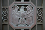 An Emblematic Eagle on a Metal Gate