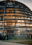 An Exterior View of the Reichstag Dome