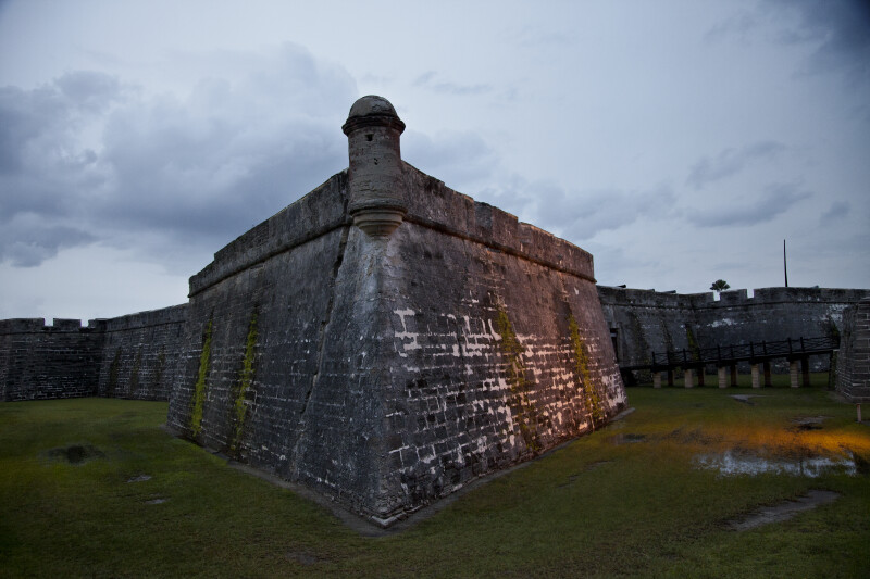 An External View of a Bastion with a Bartizan