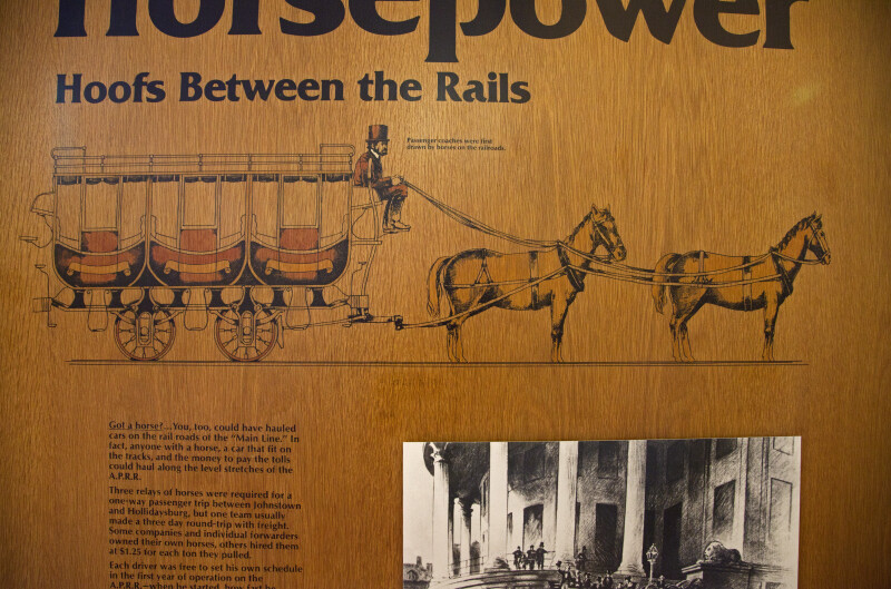An Illustration of a Horse-Drawn Railroad Car