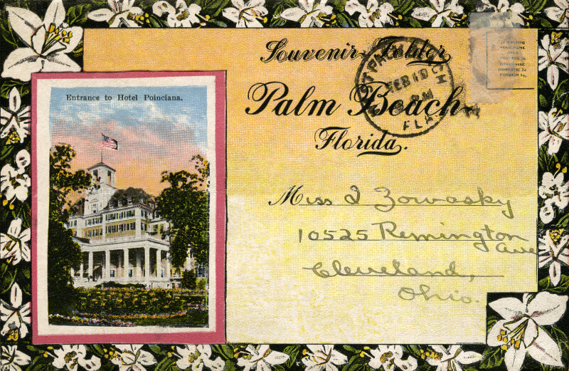 An Inset of the Entrance to the Royal Poinciana Hotel