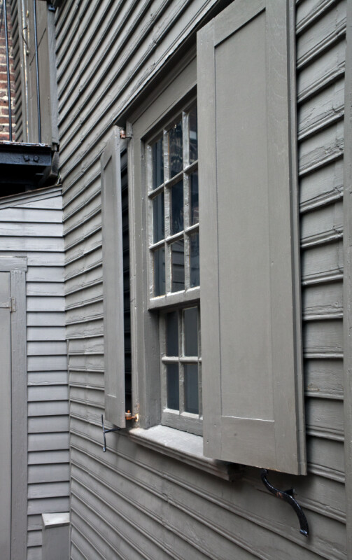 An Oblique View of a Divided Window, with Shutters