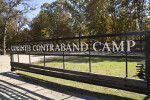 An Oblique View of the Entrance Sign at Corinth Contraband Camp