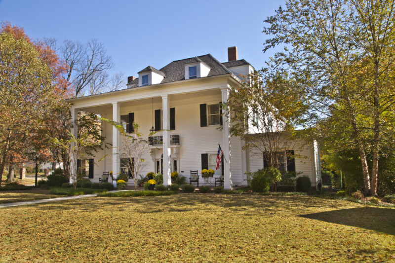 An Oblique View of the Front Elevation of the Collier Home