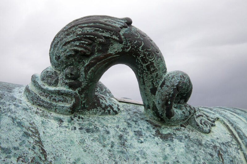 An Ornate Handle on a Cannon