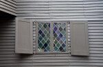 Another Leaded Casement Window, with Shutters
